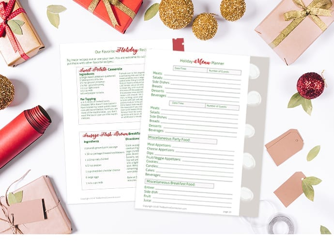 holiday planner FREE Printable