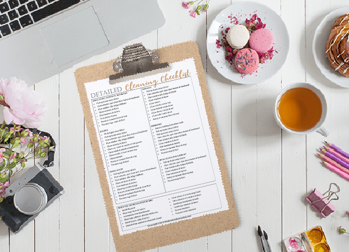 Detailed Cleaning Checklist FREE Printable