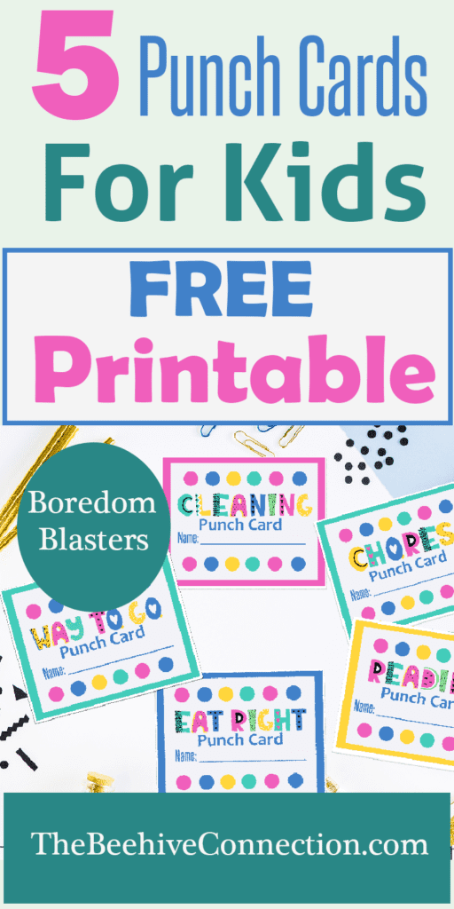 Motivation For Kids Punch Cards FREE Printable - Boredom Busters