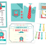 Father's day Menu, Cards, Coupons, Banner
